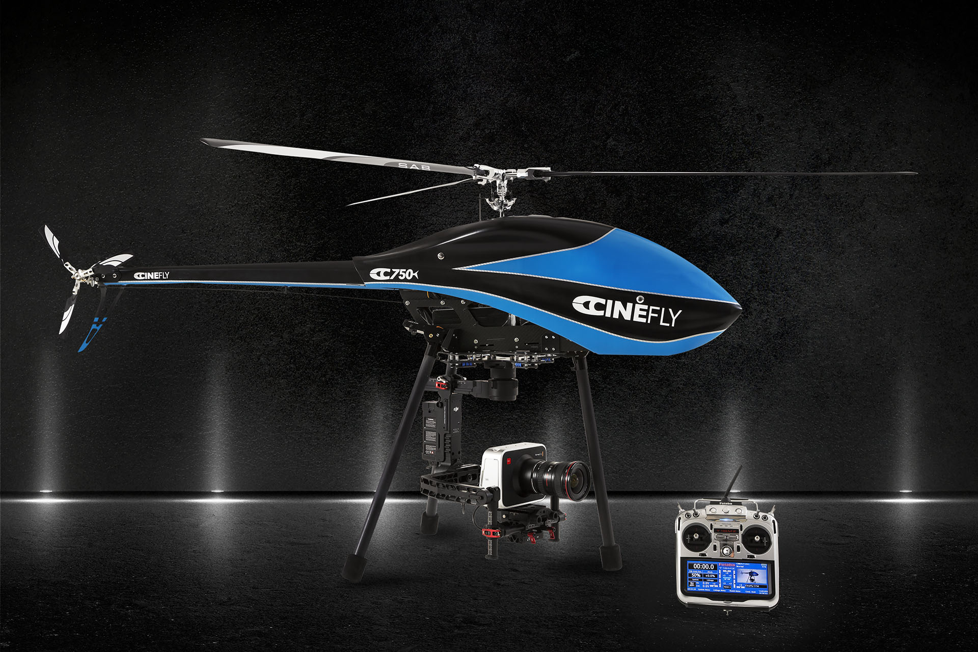 Cinefly C750 CINEMA HELI RC BLACK MAGIC PRODUCTION CAMERA