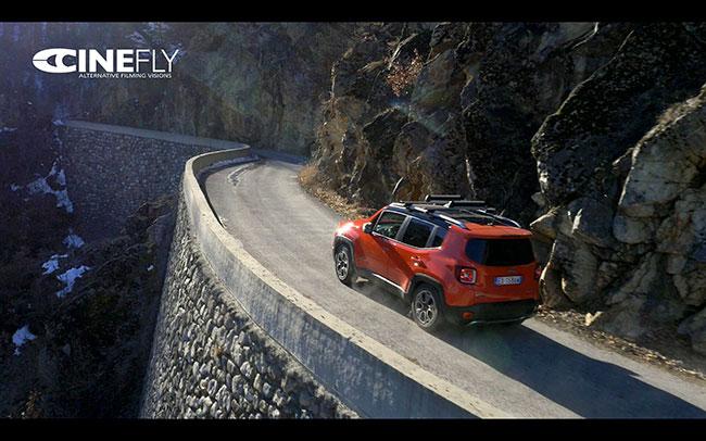 Le riprese con i droni Cinefly per Jeep Renegade