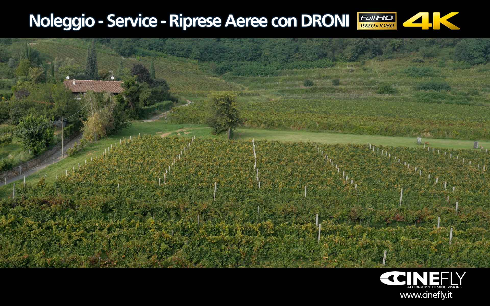 Noleggio droni con operatore per video professionali